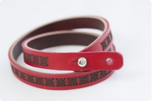 Personalized Leather Brace